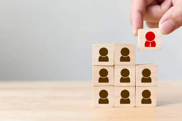 Human resource management and recruitment business concept - foto stock