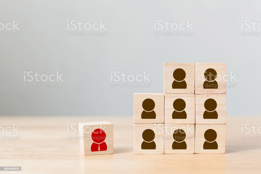 Human resource management and recruitment business concept stock photo