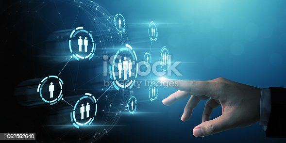 istock Human resource management and recruitment employment business concept 1062562640