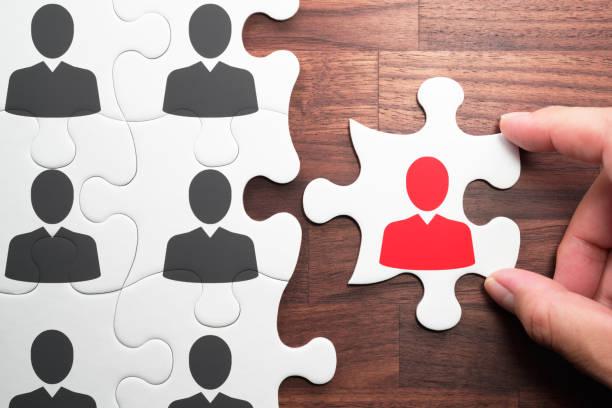 human resource management. personnel, employment and recruitment concept. - assunzione foto e immagini stock