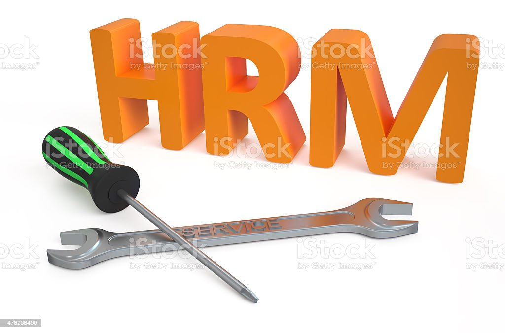 Human Resource Management (HRM) service concept stock photo