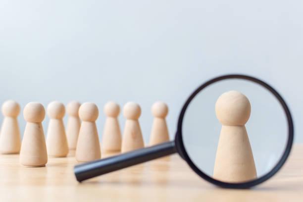 recursos humanos, gestión del talento, empleado de contratación, concepto de líder de equipo empresarial exitoso - actuación conceptos fotografías e imágenes de stock