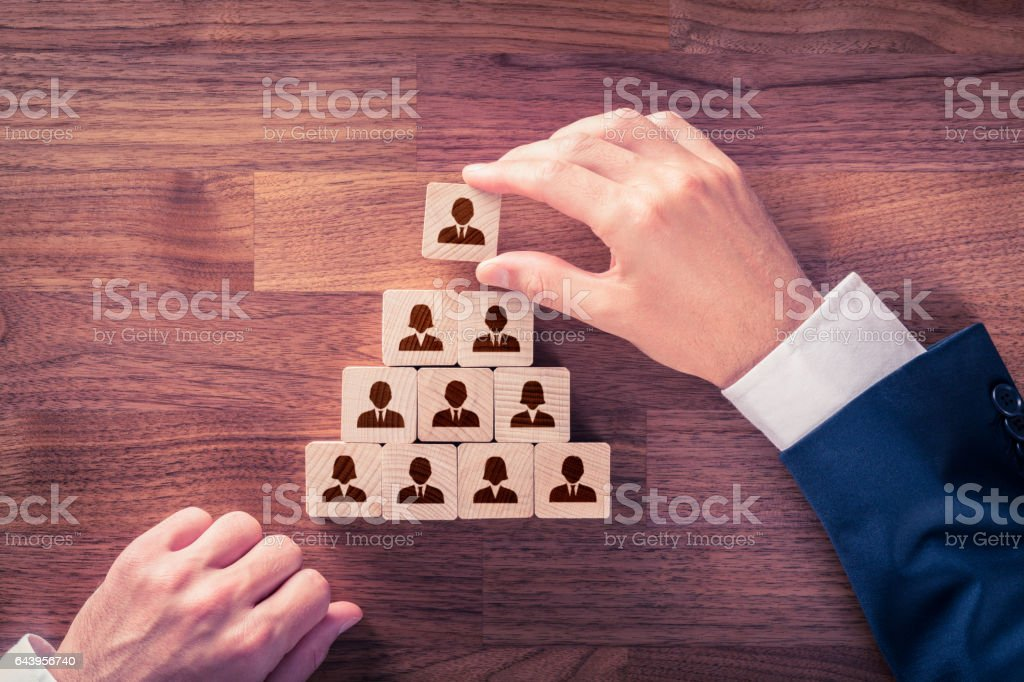 Human resources and corporate hierarchy concept stock photo