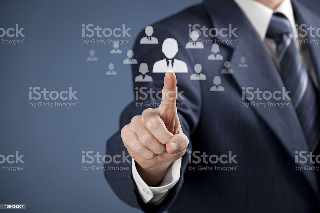 Human resources and CRM concept royalty-free stock photo