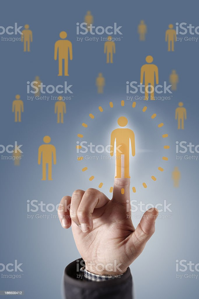 Human resources and CRM concept stock photo