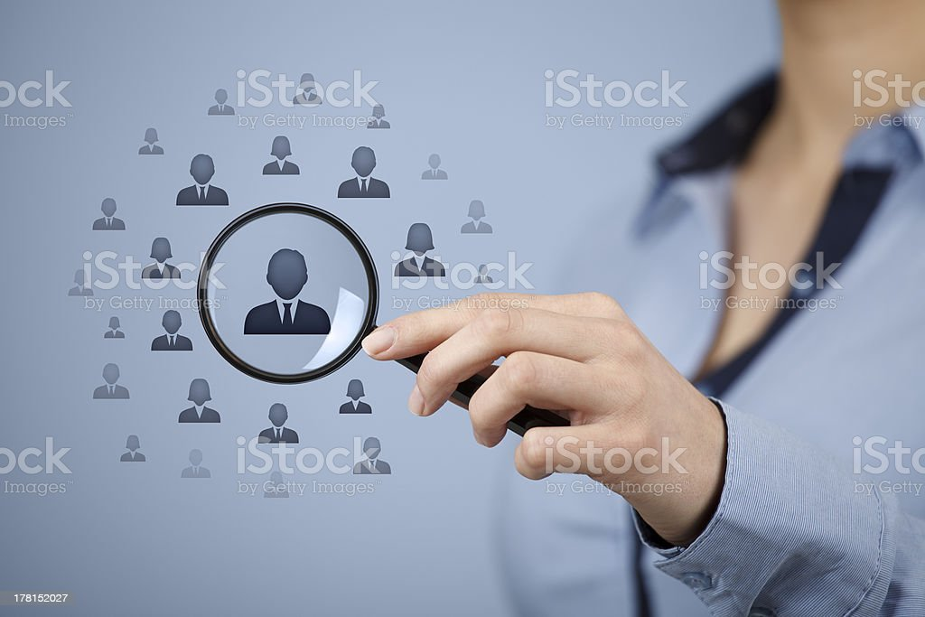 Human resources and CRM royalty-free stock photo