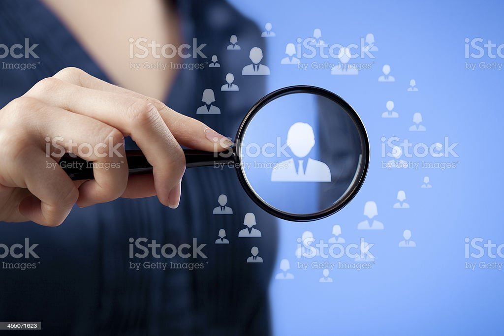 Human resources and CRM stock photo