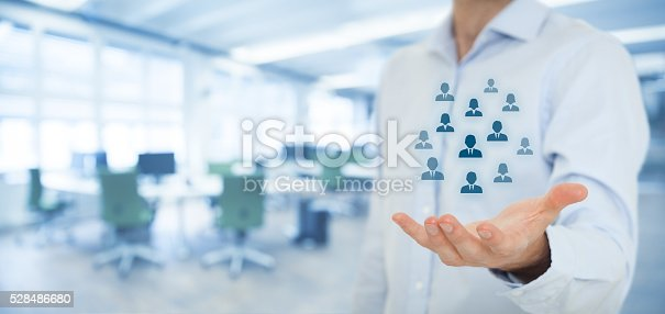 istock Human resources and customer care 528486680