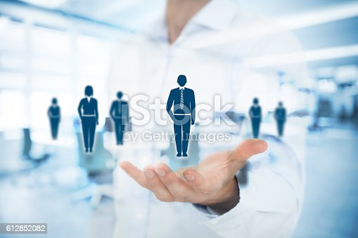 istock Human resources and customer care 612852082