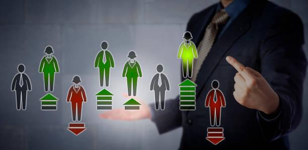 Conceito de recursos humanos para a avaliação de desempenho - foto de acervo