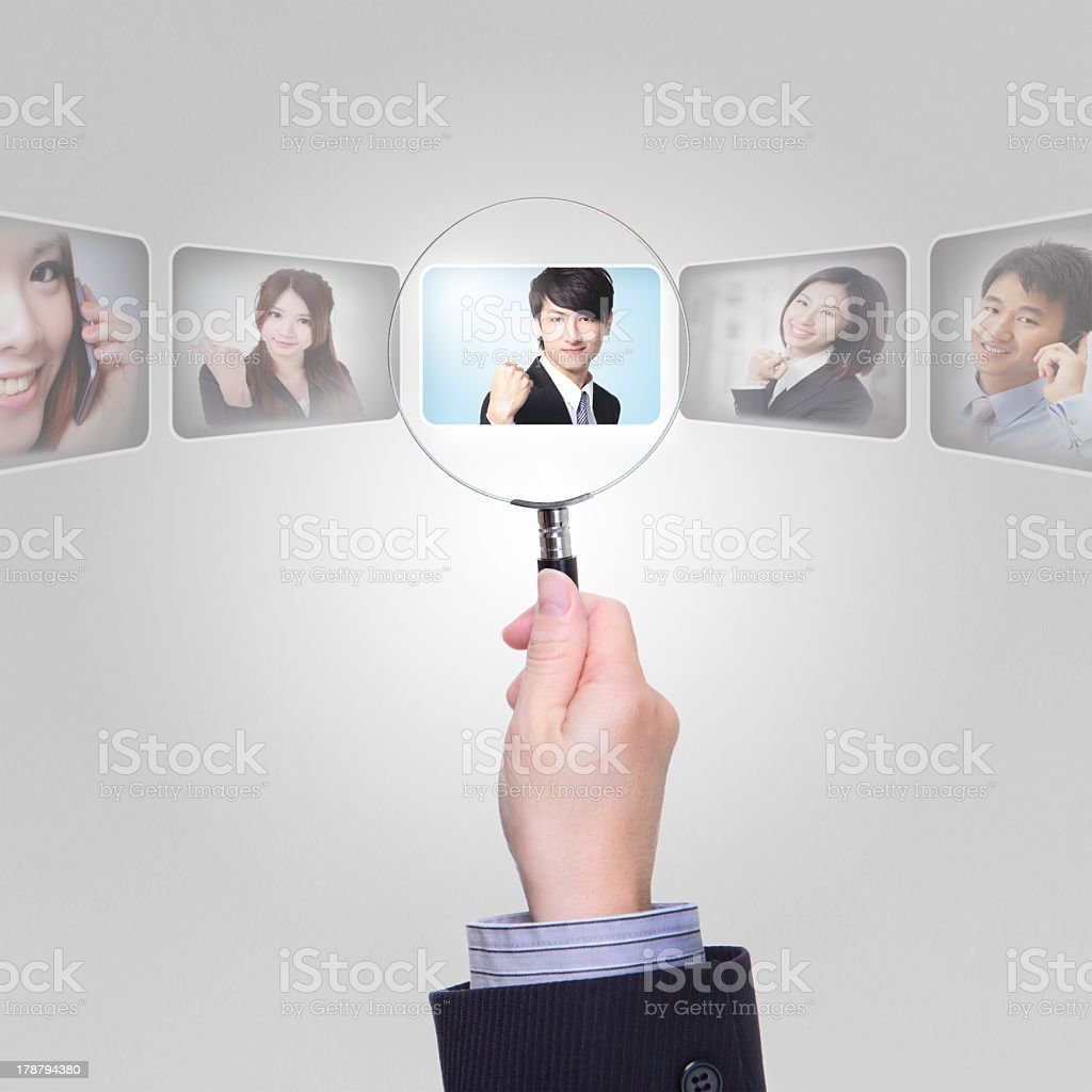 Human resources concept info graphic royalty-free stock photo