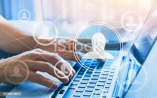istock HR, human resources concept, social network 1018929822