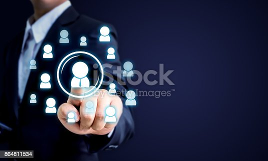 641422198istockphoto Human resources, CRM and recruitment business concept, Copy space 864811534