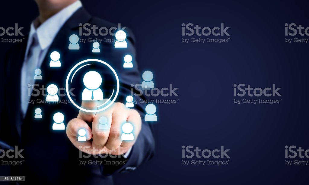Human resources, CRM and recruitment business concept, Copy space stock photo