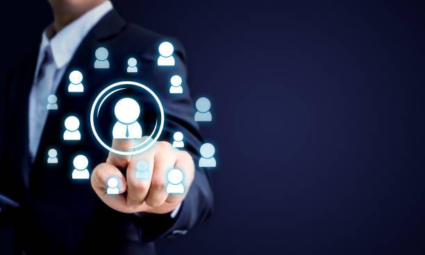 人事、crm および募集の事業コンセプト、コピー スペース - 柱頭 ストックフォトと画像