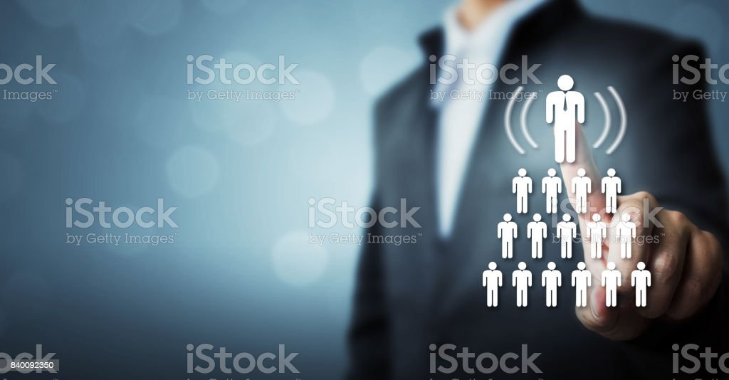 Human resources, CRM and recruitment business concept stock photo