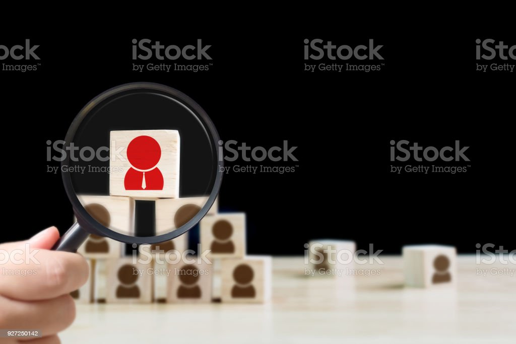 Human resources management and recruitment business hiring concept stock photo