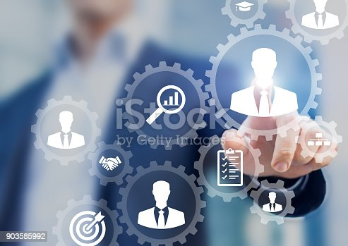 istock Human resources management and recruitment business process HR manager hiring 903585992