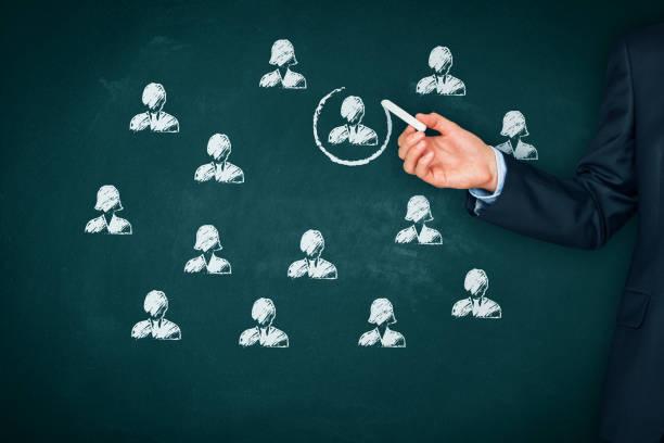 Ressources humaines, concept de segmentation et de personnalisation suis - Photo