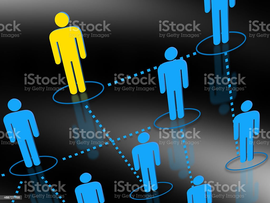 Human resources network concept stock photo