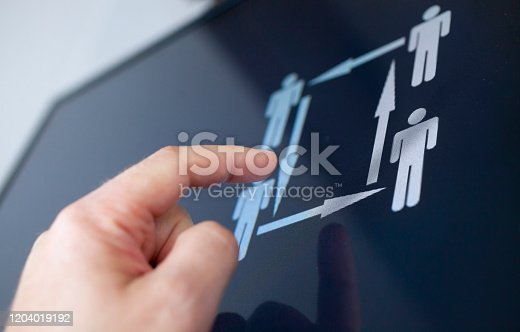 Human resources concept on a display