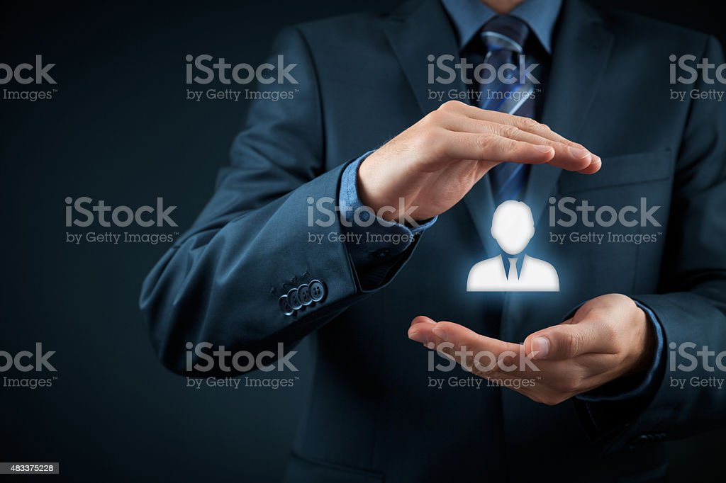 Human resources Human resources officer choose employee standing out of the crowd. Select team leader with concept. Marketing customer targeting concept. 2015 Stock Photo
