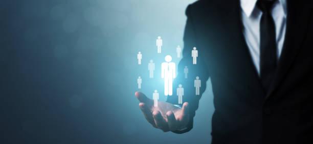 recursos humanos, concepto de negocio de gestión y captación de talento y espacio vacío copia de su texto - oficina de empleo fotografías e imágenes de stock