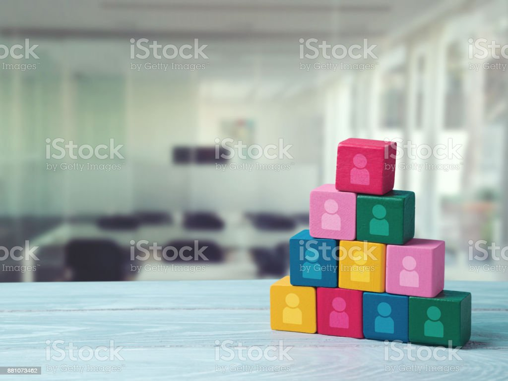 Human resourses and recruitment concept stock photo