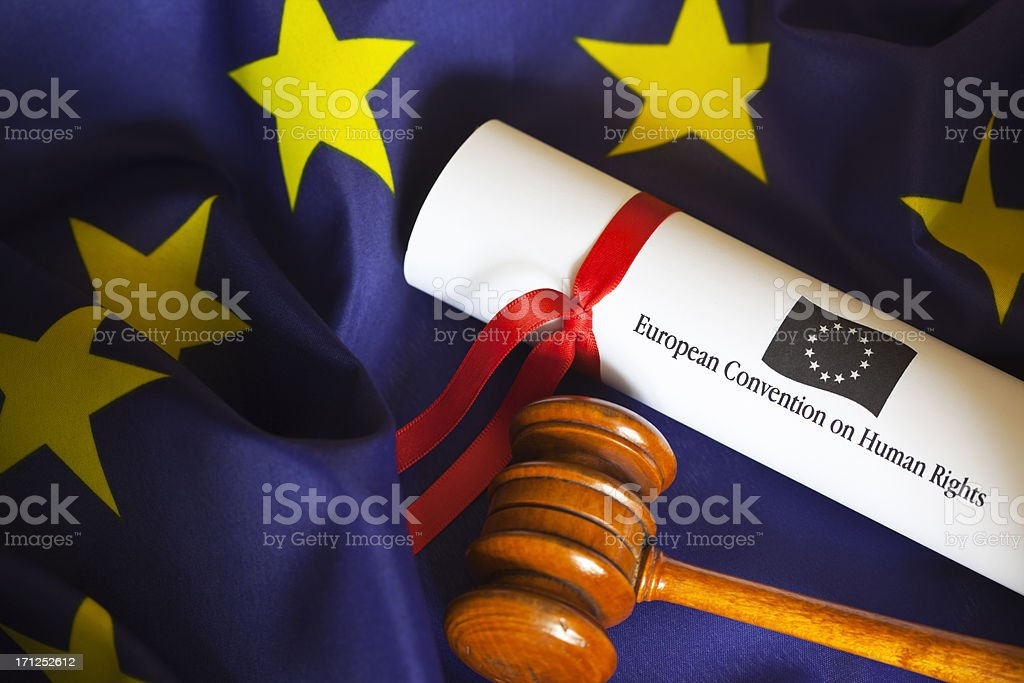 EEC Human Rights Convention royalty-free stock photo