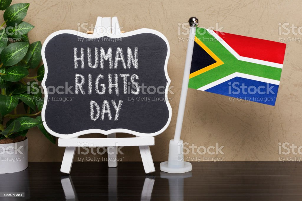 Human Rights Day, Holiday  in South Africa stock photo