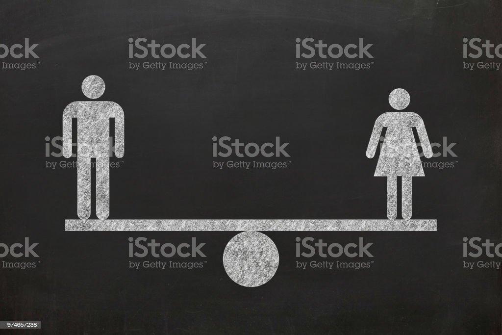 Die Menschenrechte Mann Gleichstellung der Geschlechter Skala Vergleich – Foto