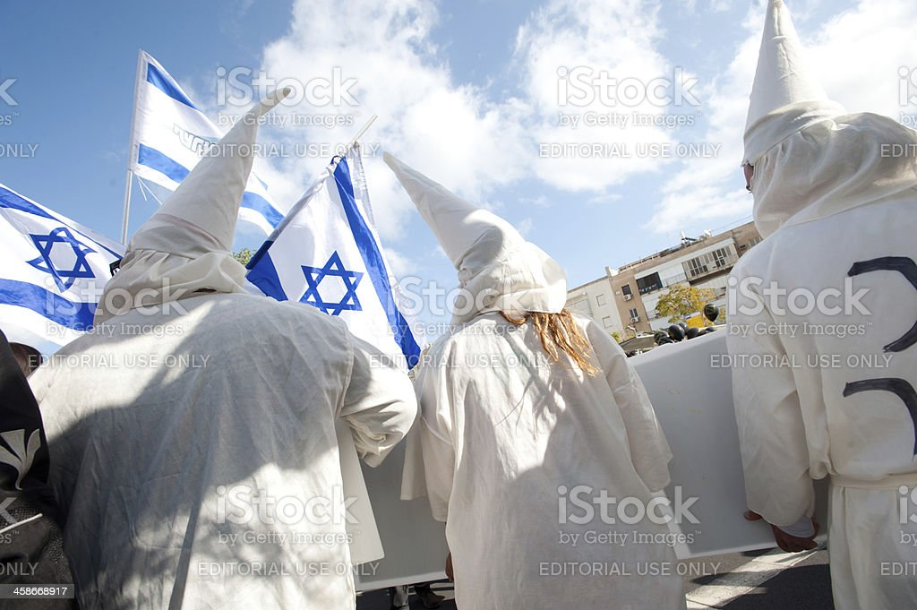 Human Rights March in Tel Aviv stock photo