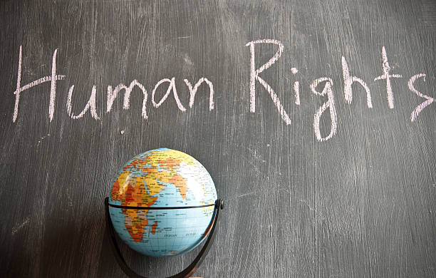 Human Rights theme Human Rights theme on blackboard human rights stock pictures, royalty-free photos & images