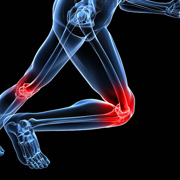 human running - human knee stock photos and pictures