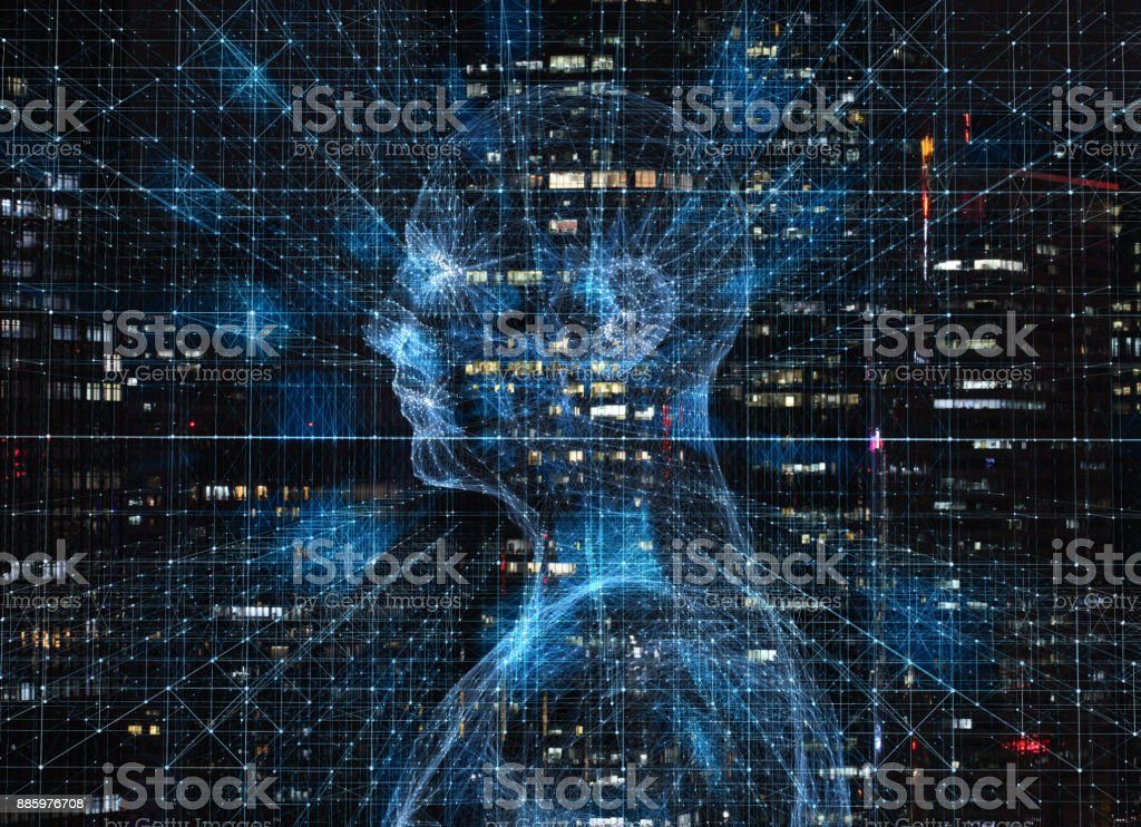 Human science and technology civilization, artificial intelligence stock photo