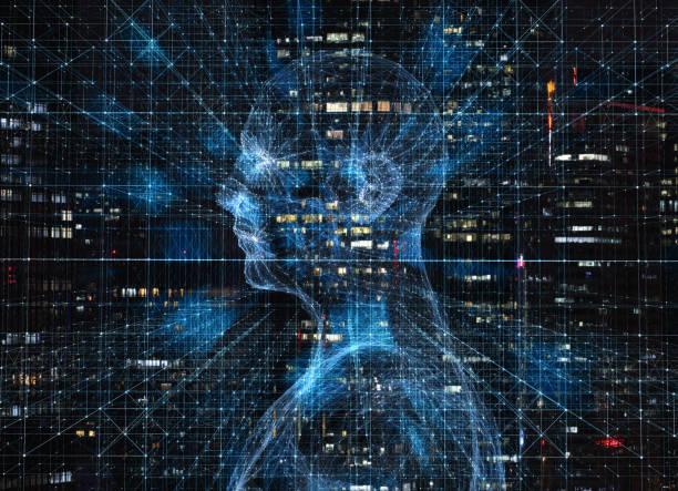 human science and technology civilization, artificial intelligence - człowiek maszyna zdjęcia i obrazy z banku zdjęć