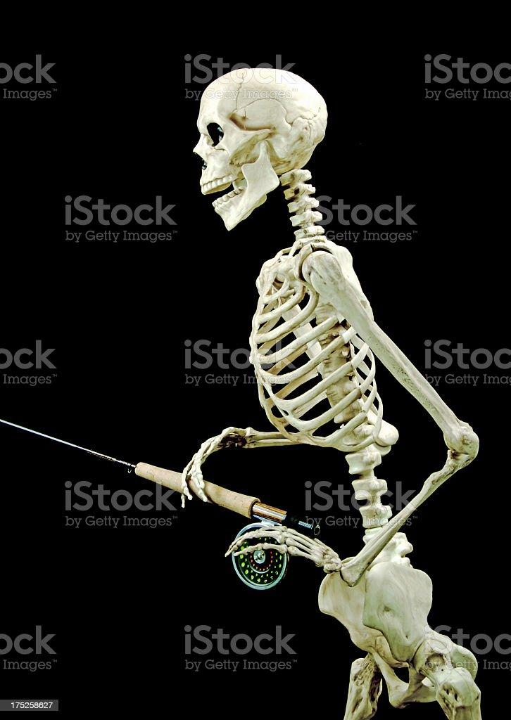 Fotografía de Esqueleto Humano Pesca Con Mosca Con La Cortina Y ...
