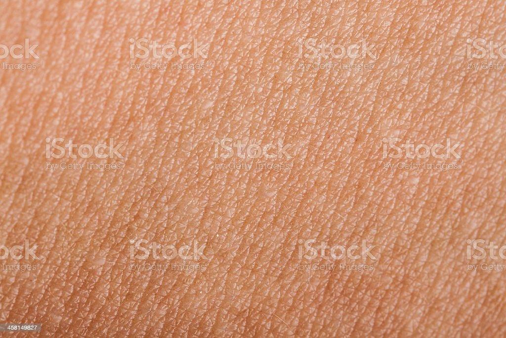 Human skin close up stock photo