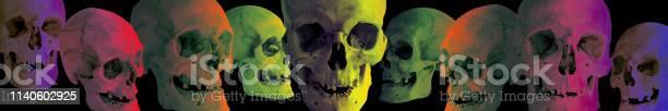 Human skull at different angles and different colors on black the picture id1140602925?b=1&k=6&m=1140602925&s=612x612&h=swrxjo3xsm4l6hhsr ebniioi8q7ydekeoftvrdv7em=
