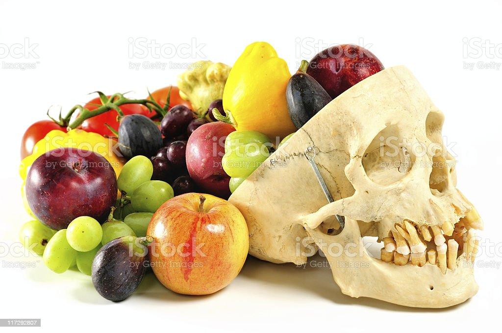 human skull cornucopia royalty-free stock photo