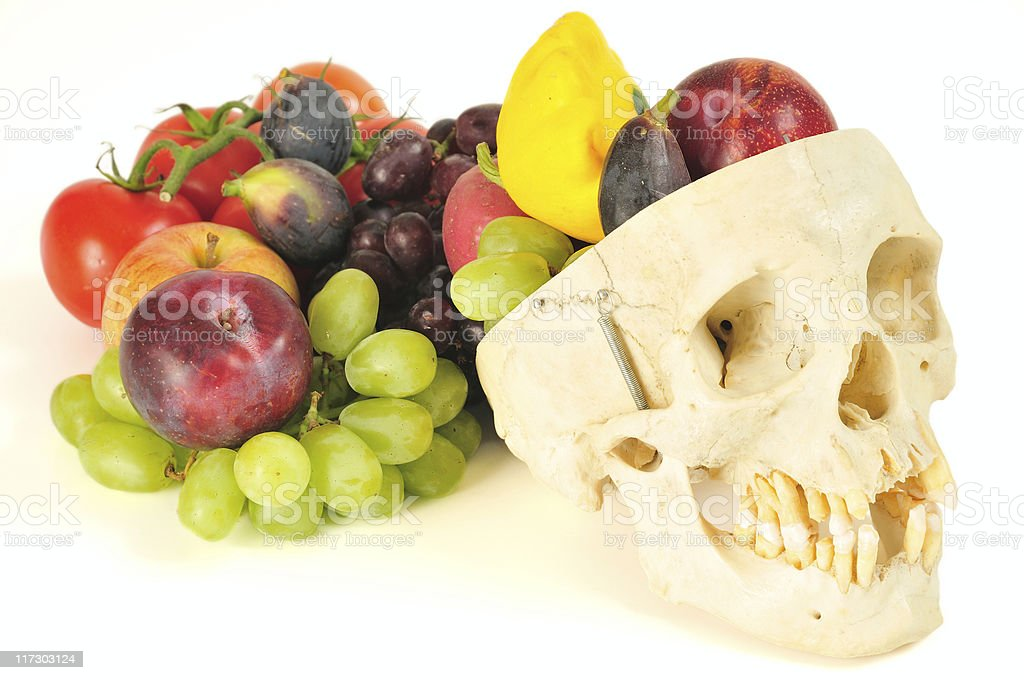 human skull cornucopia royalty-free stock photo
