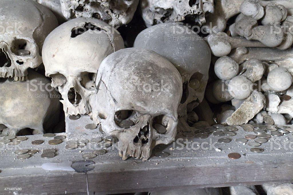 Menschlicher mit Totenkopf – Foto