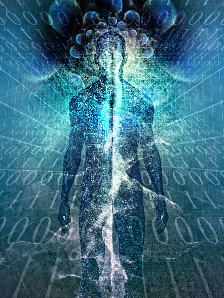 Human soul or energy stock photo