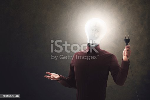 istock Human source give electric power connection 865448246