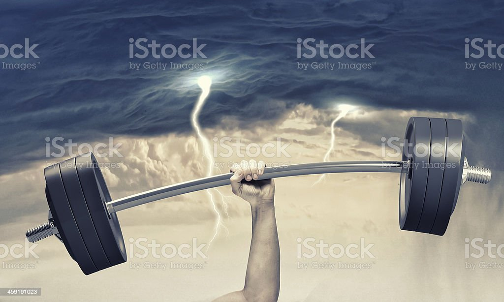 Human strength royalty-free stock photo