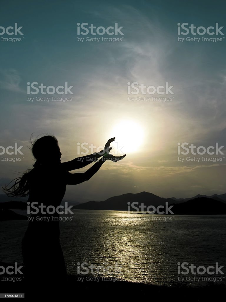 human style and sun royalty-free stock photo