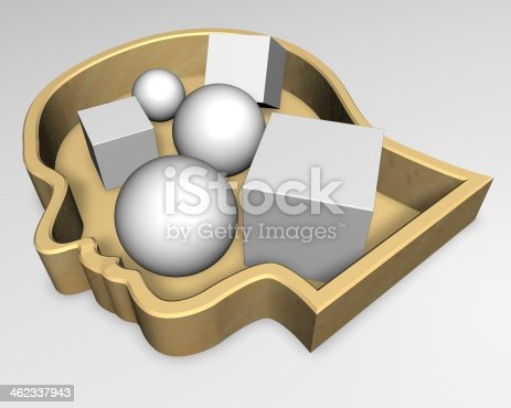 861553788 istock photo human thoughts and mind abstract 3d idea illustration 462337943