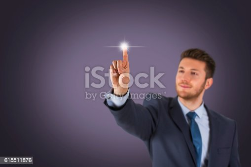 515789546istockphoto Human Touching Visual Screen 615511876