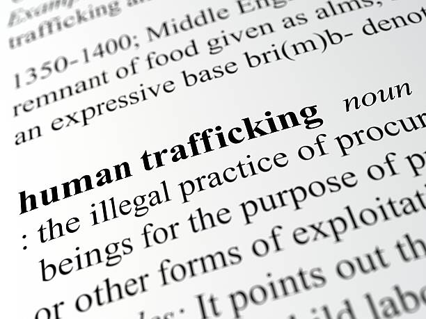 human trafficking stock photo