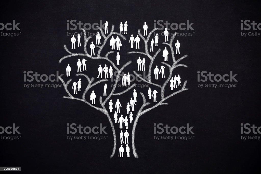 Árbol de humanos - foto de stock